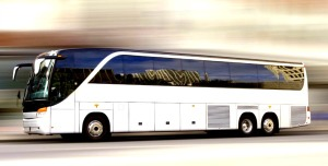 Tour Bus in Motion Graphic