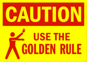 Caution Golden Rule Sign image pit musician