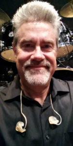 Jeff Snider with his Sensaphonics in-ear monitors
